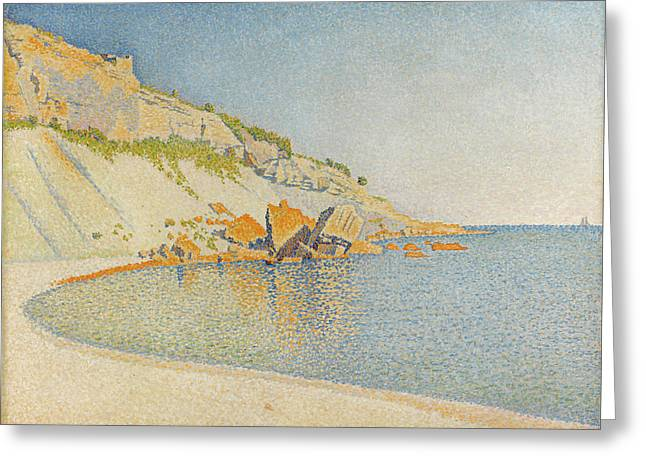 Cassis, Cap Lombard, Opus 196 Greeting Card by Paul Signac