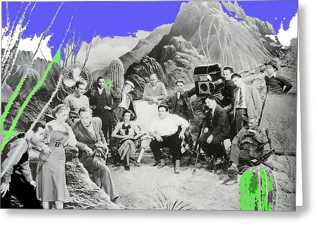Cast And Crew The Petrified Forest Warner Brothers Soundstage Culver Ca 1936-2016 Greeting Card by David Lee Guss