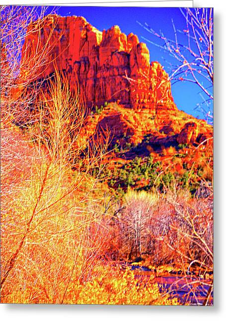 Cathedral Rock Greeting Card by Paul Kloschinsky