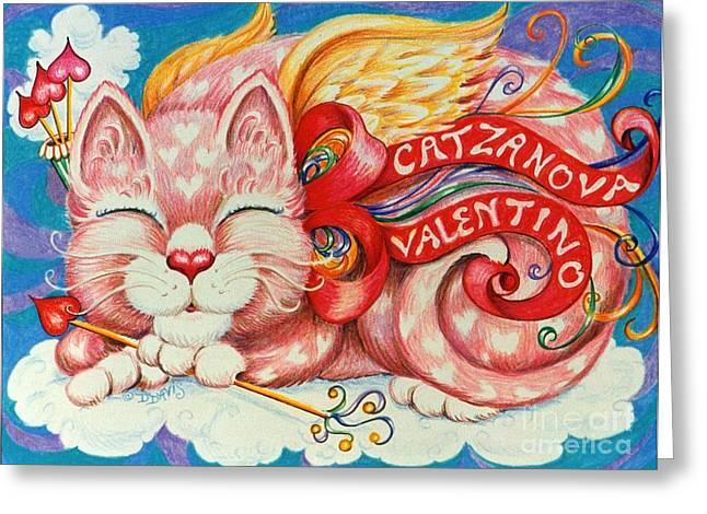 Catzanova Valentino Greeting Card