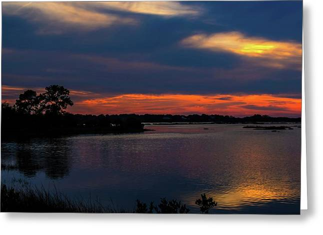 Greeting Card featuring the photograph Ceader Key Florida  by Louis Ferreira