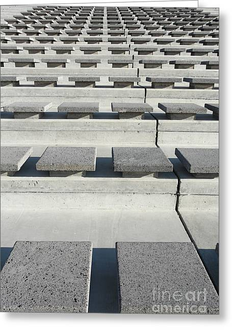 Cement Seats Greeting Card by Gaspar Avila