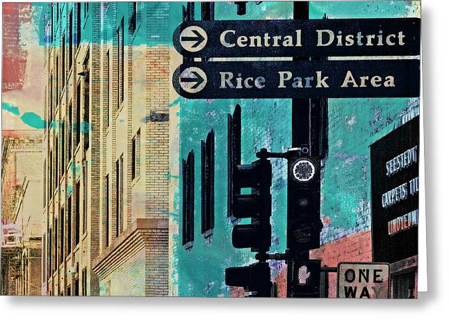 Greeting Card featuring the photograph Central District by Susan Stone