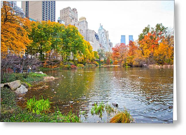 Central Park Greeting Card by Stuart Monk