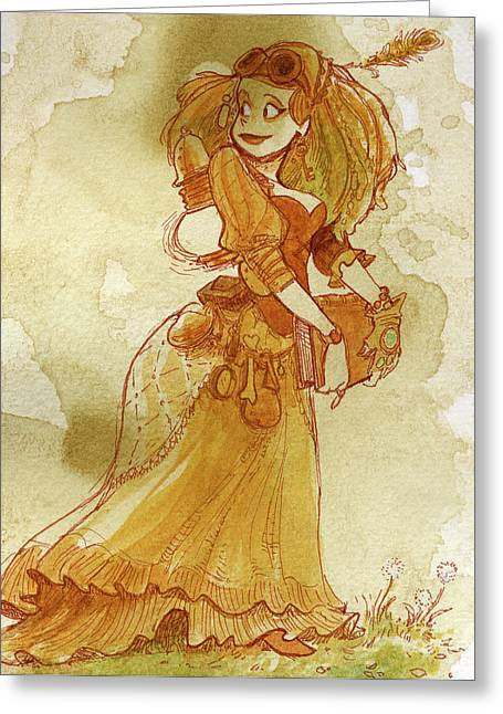 Chamomile Greeting Card by Brian Kesinger