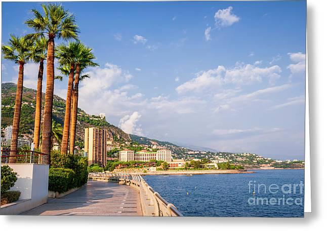 Champions Promenade In Monaco Greeting Card by Elena Elisseeva
