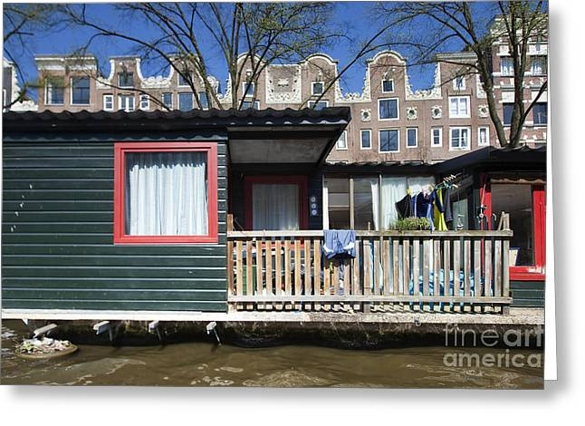 Channels Of Amsterdam Greeting Card by Andre Goncalves