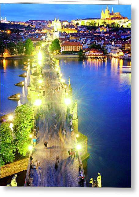 Greeting Card featuring the photograph Charles Bridge by Fabrizio Troiani