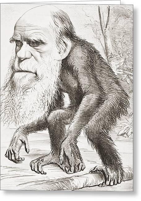 Charles Darwin 1809 - 1882. English Greeting Card by Vintage Design Pics