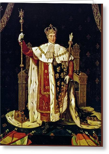 Charles X In His Coronation Robes Greeting Card