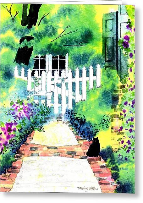 Charleston Gate Greeting Card by Melody Allen