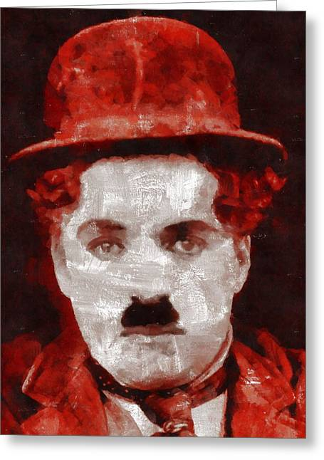 Charlie Chaplin Hollywood Legend Greeting Card by Esoterica Art Agency