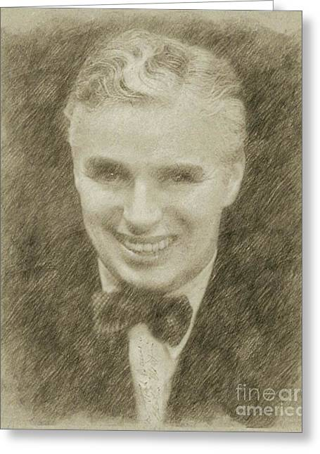 Charlie Chaplin Hollywood Legend Greeting Card by Frank Falcon