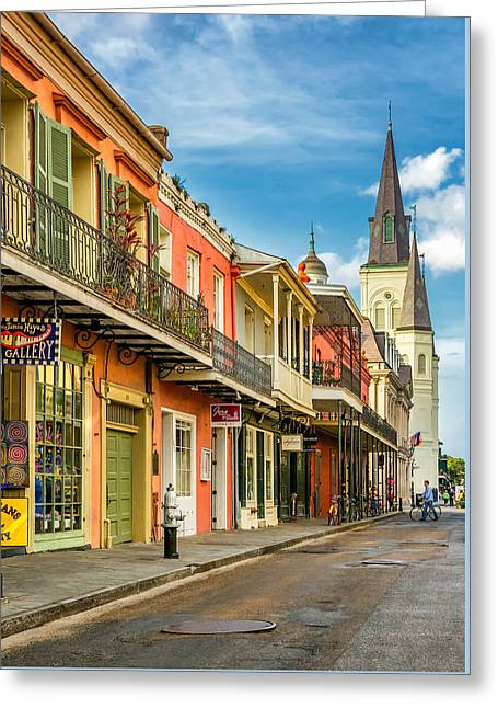 Chartres St In The French Quarter 2 Greeting Card by Steve Harrington