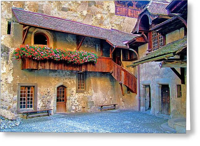 Chateau De Chillon Greeting Card by Nick Diemel