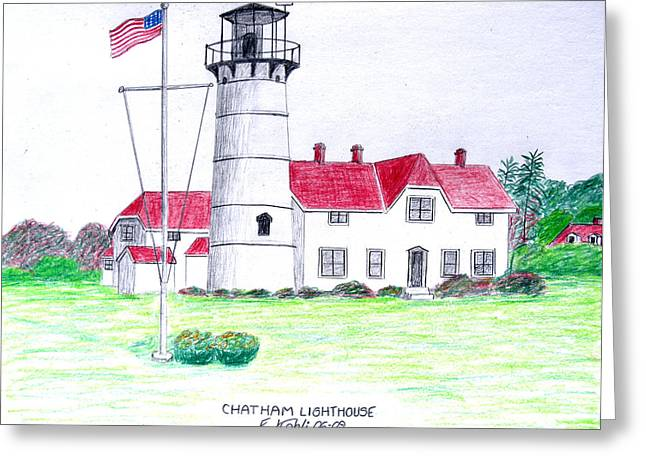 Chatham Lighthouse  Greeting Card by Frederic Kohli