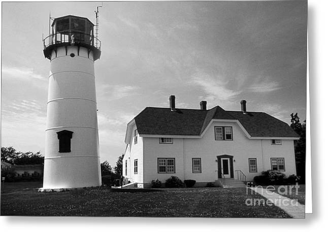 Chatham Lighthouse Ma Greeting Card by Skip Willits