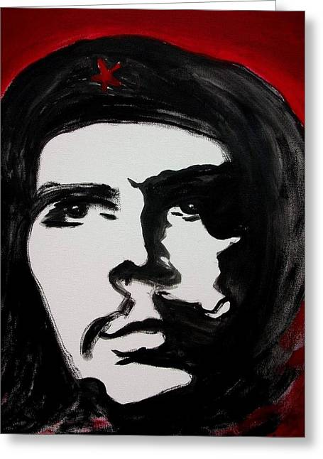Che Greeting Card by Jean Billsdon