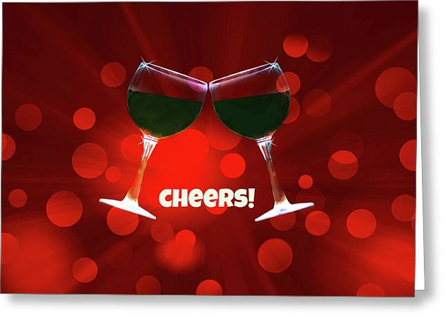 Cheers Greeting Card by Stephanie Laird