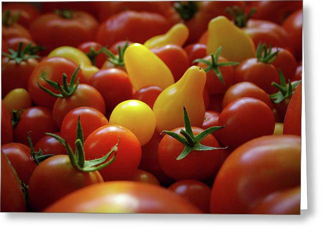 Cherry Tomatoes Greeting Card by Carlos Caetano