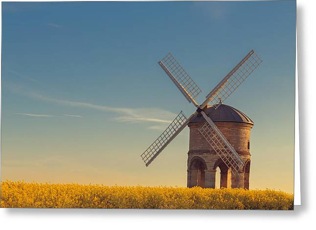 Chesterton Windmill Greeting Card by Chris Fletcher