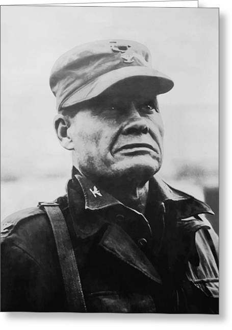 Marine corps greeting cards fine art america chesty puller greeting card bookmarktalkfo Gallery