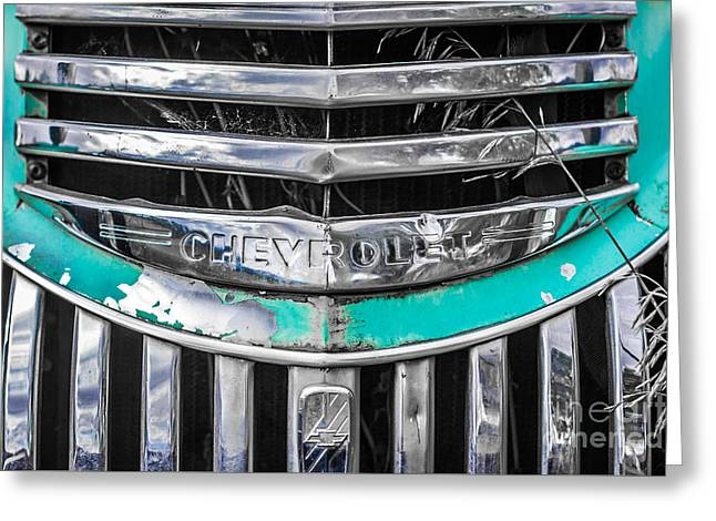 Chevrolet Grill 5 Greeting Card by Ashley M Conger