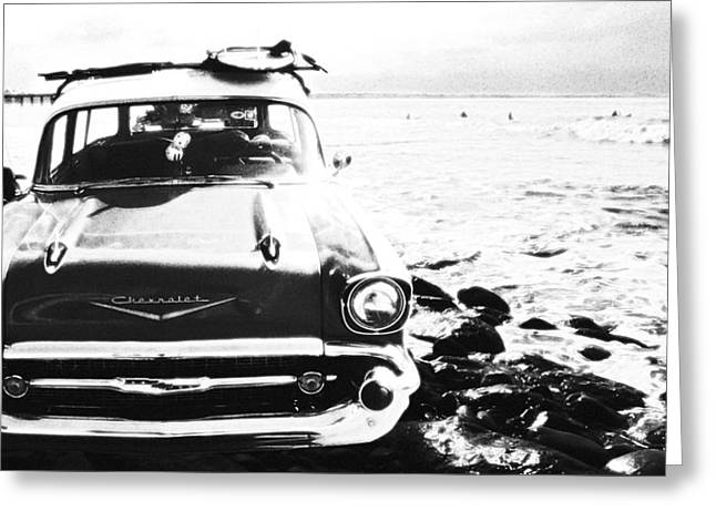 Chevy On The Rocks Greeting Card by Ron Regalado