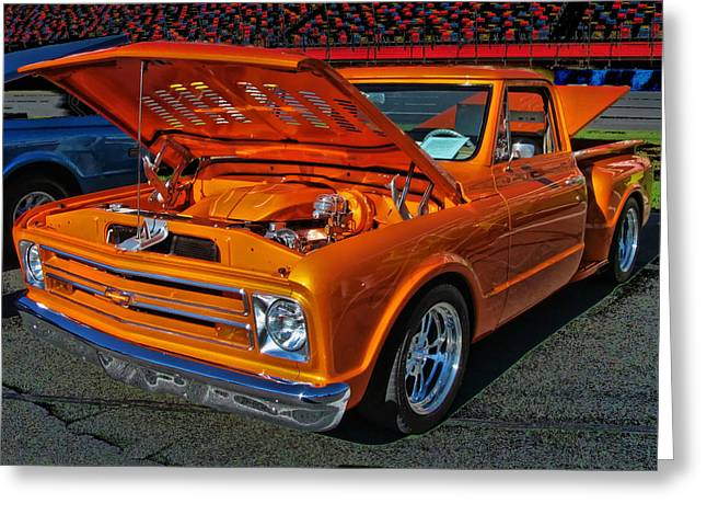 Chevy Stepside Greeting Card by Victor Montgomery