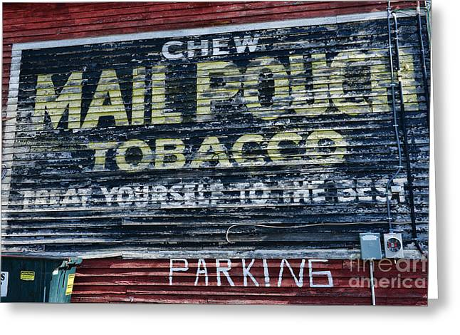 Chew Mail Pouch Tobacco Ad Greeting Card