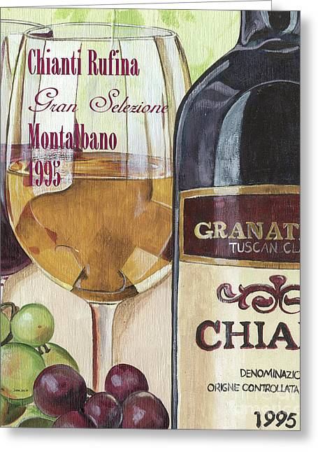 Chianti Rufina Greeting Card by Debbie DeWitt