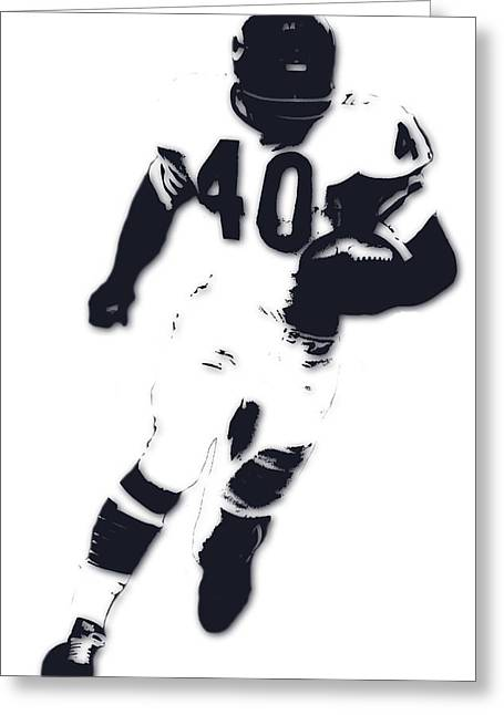 Chicago Bears Gale Sayers Greeting Card by Joe Hamilton