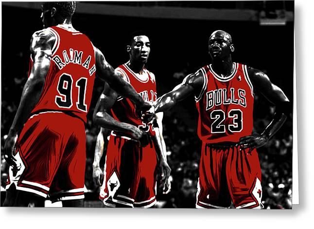 Chicago Bulls Big 3 Greeting Card