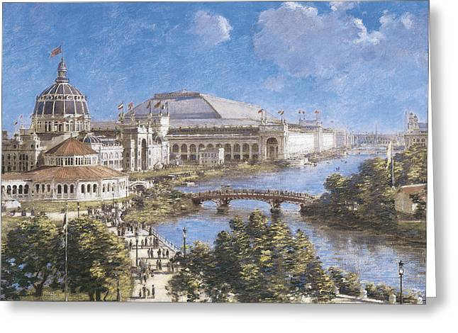 Chicago Columbian Exposition Greeting Card by Theodore Robinson