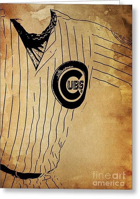 Chicago Cubs Baseball Team Vintage Card Greeting Card