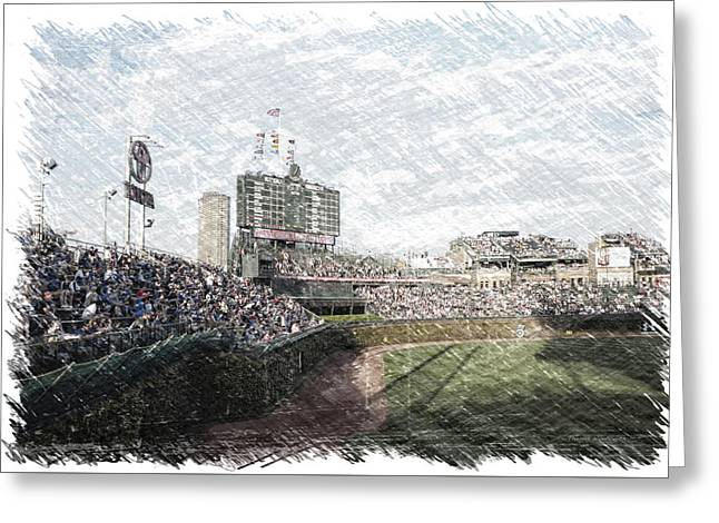 Chicago Cubs Original Scoreboard Pa Greeting Card by Thomas Woolworth