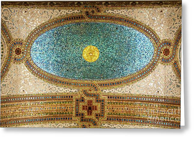 Chicago Cultural Center Ceiling Greeting Card