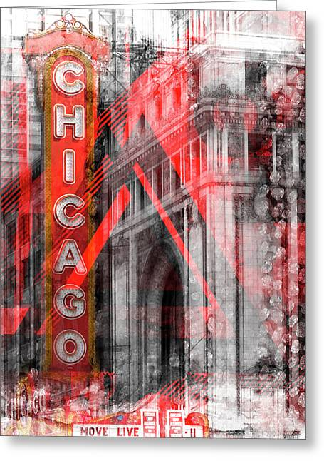 Chicago Geometric Mix No 4 Greeting Card