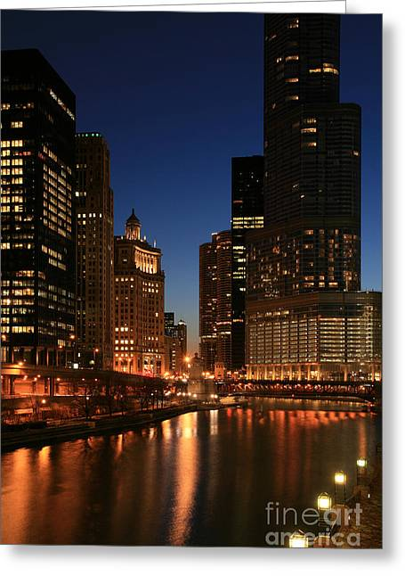 Chicago River Reflections Greeting Card