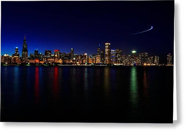 Chicago-skyline 3 Greeting Card