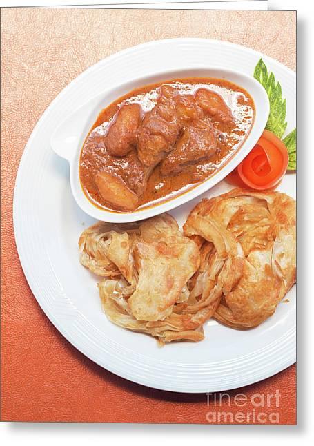 Greeting Card featuring the photograph Chicken Massaman Curry by Atiketta Sangasaeng
