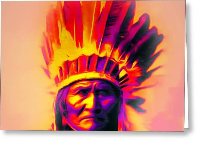 Chief Geronimo 20151228 Greeting Card