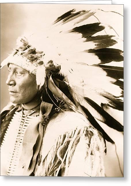 Chief Hollow Horn Bear Greeting Card