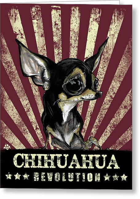Chihuahua Revolution Greeting Card