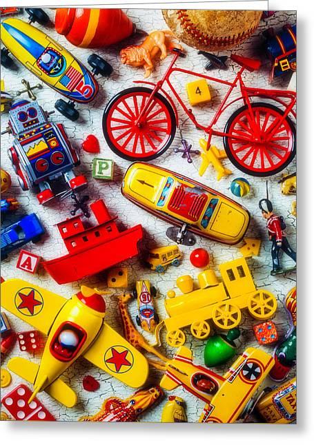 Childhood Toys Greeting Card