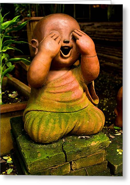 Children Monk Greeting Card by Honey Bee