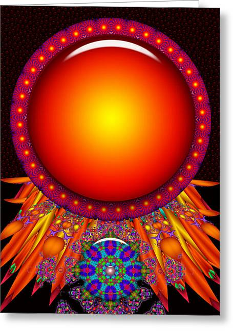 Greeting Card featuring the digital art Children Of The Sun by Robert Orinski