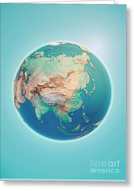 China 3d Render Planet Earth Greeting Card