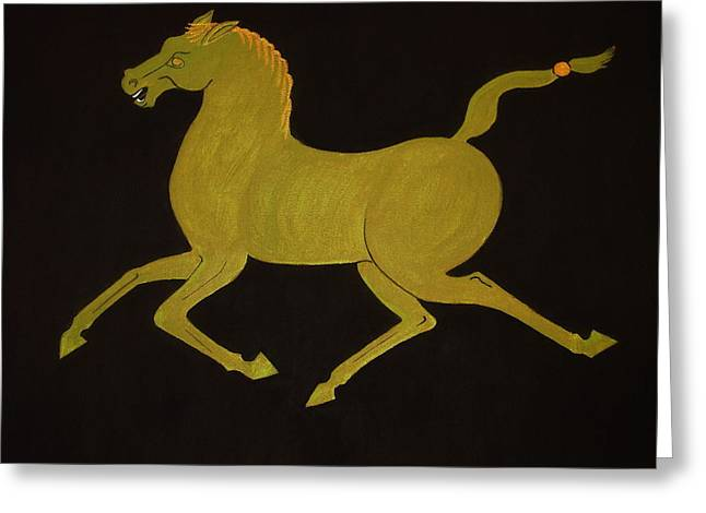 Chinese Horse #2 Greeting Card by Stephanie Moore