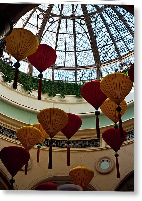 Chinese Lanterns Greeting Card by Rae Tucker